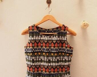 Cute Sundress - Short Summer Dress - Vintage Inspired - Sleeveless Dress - Pleated Skirt - Kitsch Dress Party Dress - Size M (US6-8)