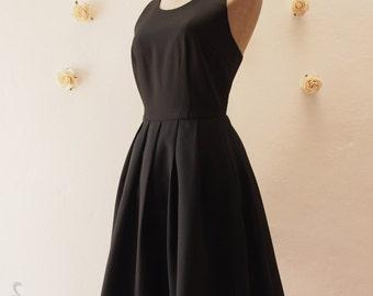 Little Black Dress, Women Halloween Party Dress, Black Bridesmaid Dress,Black Dancing Wedding Summer Dress, Black Vintage Dress, Love Potion