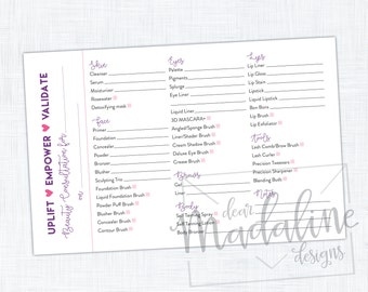 Beauty Consultation Notepads {Set of 2}
