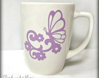 Ceramic Coffee Mug - Coffee Cup - Butterfly Tea Mug
