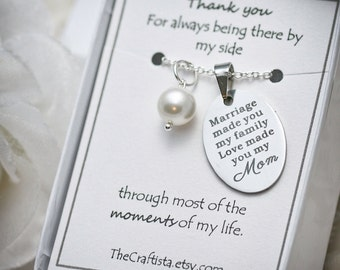 Stepmother Necklace -SF2- Gift For Mother In Law, Gifts for Stepmom, Gift from Daughter In Law, Stepmother, Stepmom pendant, Stepmom charm