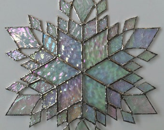 stained glass snowflake suncatcher (design 37B)