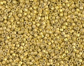 MIYUKI DELICA BEAD, 11/0 Galvanized Permanent Finish Zest, DB1154,  5g, 10g, 15g, 20g Delica Beads