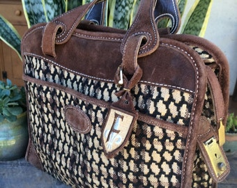 Awesome Vintage Over night Bag Satchel Carry on Travel in STYLE