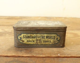 Vintage Tin Box Antique Tobacco Tin Collectible Tobacciana Vintage Advertising Sweet Burley Fine Cut Tobacco Tin