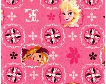Elsa and Ana Frozen Disney Fabric, Elsa Fabric, Ana Fabric, Disney Fabric, Frozen Fabric, Pink Fabric, CP51872, 00362