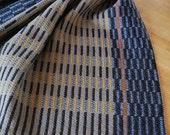 Handwoven Tea Towel- Midnight Stripes Periwinkle