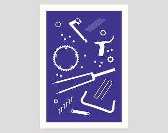 Bike Parts A2 Print