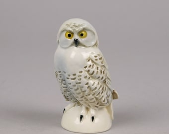Vintage Goebel Snowy Owl, Small Off White Owl West Germany 38311 08