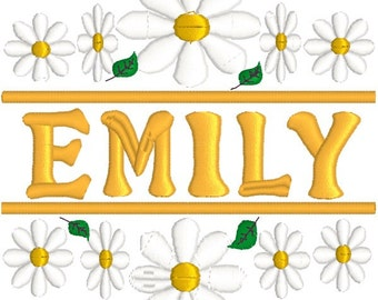 SALE 30% off Daisy split embroidery, embroidery file, digitized embroidery file, download file, machine embroidery file, Yellow daisy,