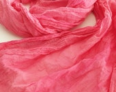 Hand dyed pink cotton harem cloth scarf