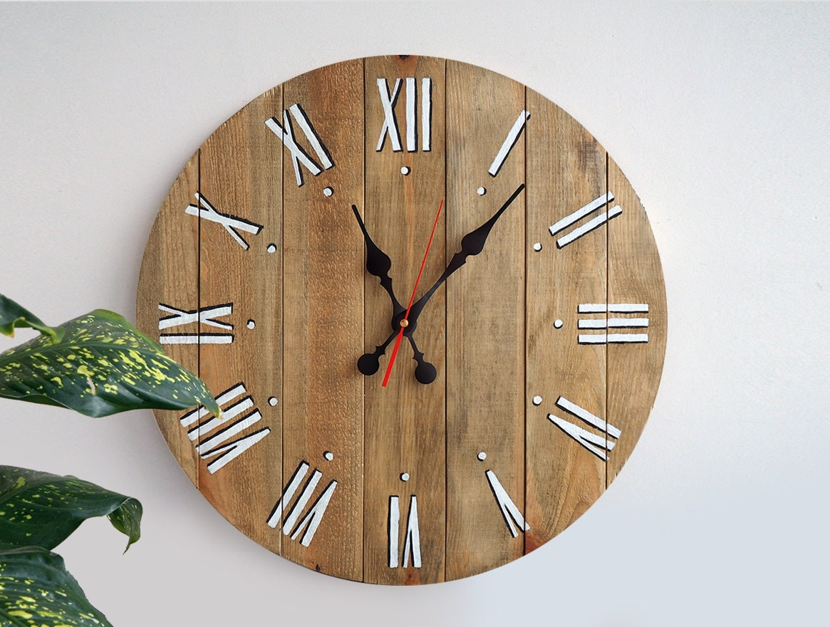 Rustic Wall Clock Large