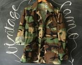 Vintage Camo Surplus Military Fatigues Jacket Small-Regular