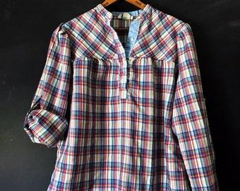 Vintage Stuffed Shirt Plaid Tunic