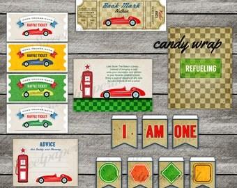 Race Car Birthday Party | Transportation Vintage  | Choose One Boy's Add - on - Printable