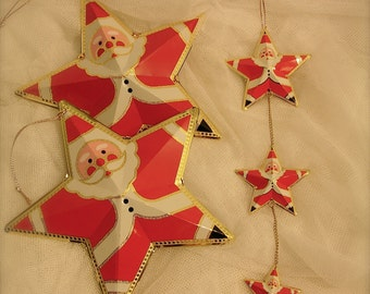 Vintage Santa Decor, Santa ornaments, Christmas ornaments
