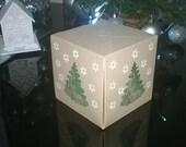 5 Christmas Tree Gift Boxes , Made to Order, Christmas, Thank You gift Box, UK FREE SHIPPING