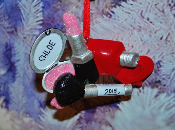Personalized I Love Makeup and Nail Polish Ornament