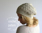 CROCHET PATTERN Beanie Pattern for HDC Textured Hat includes Photo step by step tutorial