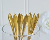 Gold plated shabby coffee and tea spoons, vintage Swedish flatware, gold washed cutlery, please see item details
