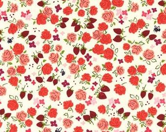 Strawberry Moon - Roseberry in Strawberry - Sandi Henderson for Michael Miller - DC7308-STRW-D - 1/2 Yard