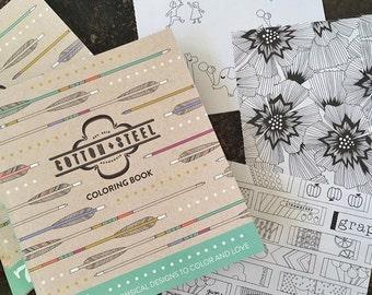 Cotton + Steel Coloring Book - CS_Coloring - Cotton + Steel