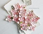 30 pink rose wedding petals . table decorations . origami petals . origami flowers . wedding flowers . wedding favors