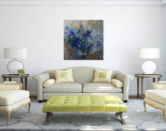 Original Painting,Abstract Painting,Textured Wall Art,Acrylic Painting, Large Abstract, Blue Painting, Art Deco, Canvas Painting, Modern Art