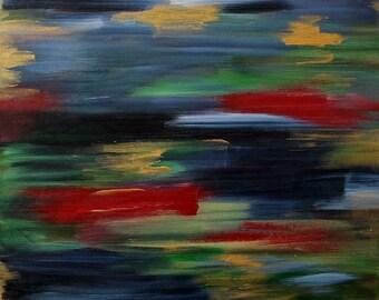 Free Shipping, Original Painting, Abstract Painting, Metallic Painting, Canvas Painting, Contemporary Art, Wall Art, Art Deco, Modern Art