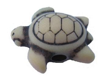 24 Sea Turtle Beads - Antique Sand