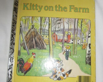 Kitty On The Farm Little Golden Book Cat Childrens Story Book Copyright 1948