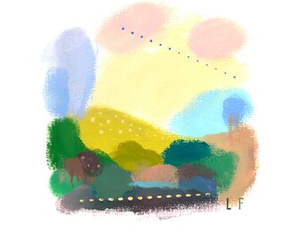 Peaceful Abstract Landscape art print