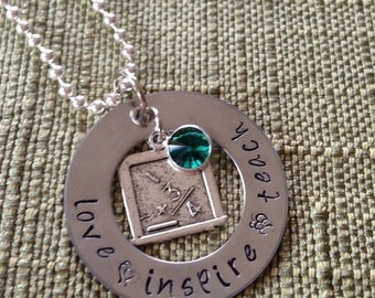 Love, Inspire, Teach Necklace