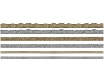 Metallic Gold and Silver Ribbon and Trim,  6 Yards Total by Tim Holtz Idea-Ology