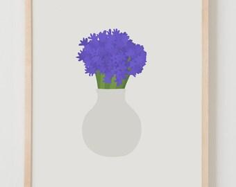 Fine Art Print.  Bouquet of Hyacinth. March 10, 2016.