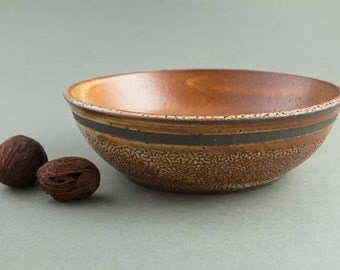 Rust and brown earthy bowl