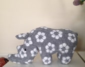 African flower Rhino - crochet amigurumi