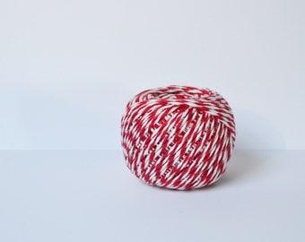 Bakers Twine Red and white twine Christmas Twine Butcher's Twine Cotton Twine Thick Twine bulk twine