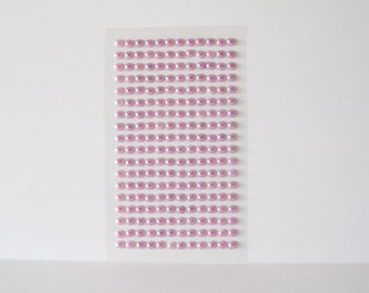 Pearl Stickers Pink Pearls Wedding Stickers Invitation Embellishments Faux Pearls 3D Pearl Stickers Flat Back Pearl Stickers