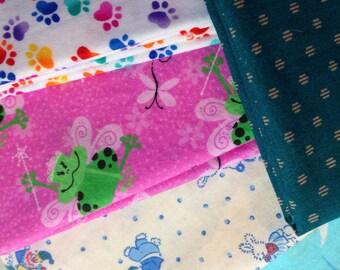5 Piece Fat Quarter 100% Cotton Print Fabric - #28