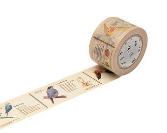 SALE - 30mm Wide Washi Tape - Encyclopedia themed /Bird Washi Tape, MT ex Tape, Masking Tape, Paper Tape