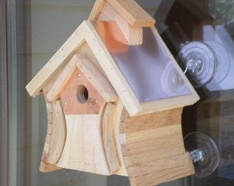 Copper wren house, bird house, window mounting bird house