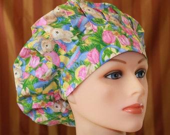 Bouffant Surgical Scrub Hat/Chef Hat--Peter Rabbit
