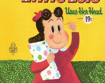 Marge's Little Lulu Uses Her Head  Vintage Whitman Tell a Tale Book Illustrated by Marjorie Henderson Buell