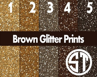 """Brown Faux Glitter """"Flitter"""" printed vinyl or heat transfer vinyl (iron on) in 6x6, 8.5x11, 12x12, 12x24 and 12x36"""
