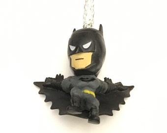 Batman Necklace, Superhero Necklace, Action Figure Necklace, Gotham, Dark Knight Necklace, Arkham Necklace