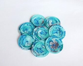 Blue Poppies Embellishment