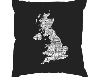 Throw Pillow Cover - Word Art - God Save The Queen