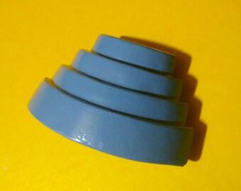 "DEVO Energy Dome magnet. BLUE ""Something For Everybody"" edition. 80's punk rock helmet hat FanArt"