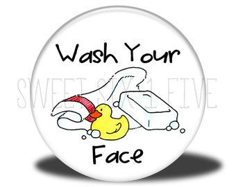 Wash Your Face - Chore Magnet